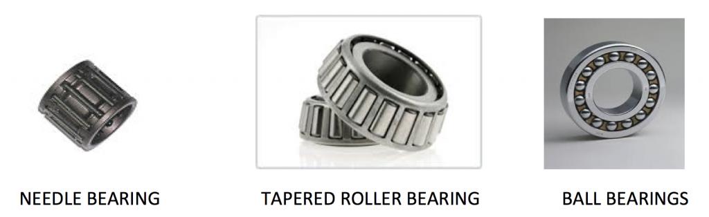 Needle Bearing, Tapered Roller Bearing, and Ball Bearing