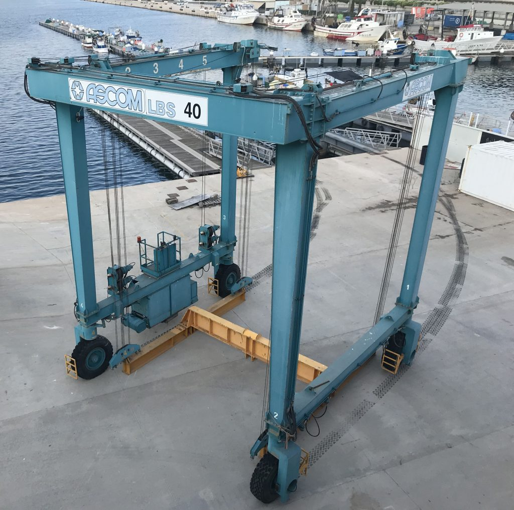 Used 40 Metric-Ton Travel Lift with Low Working Hours