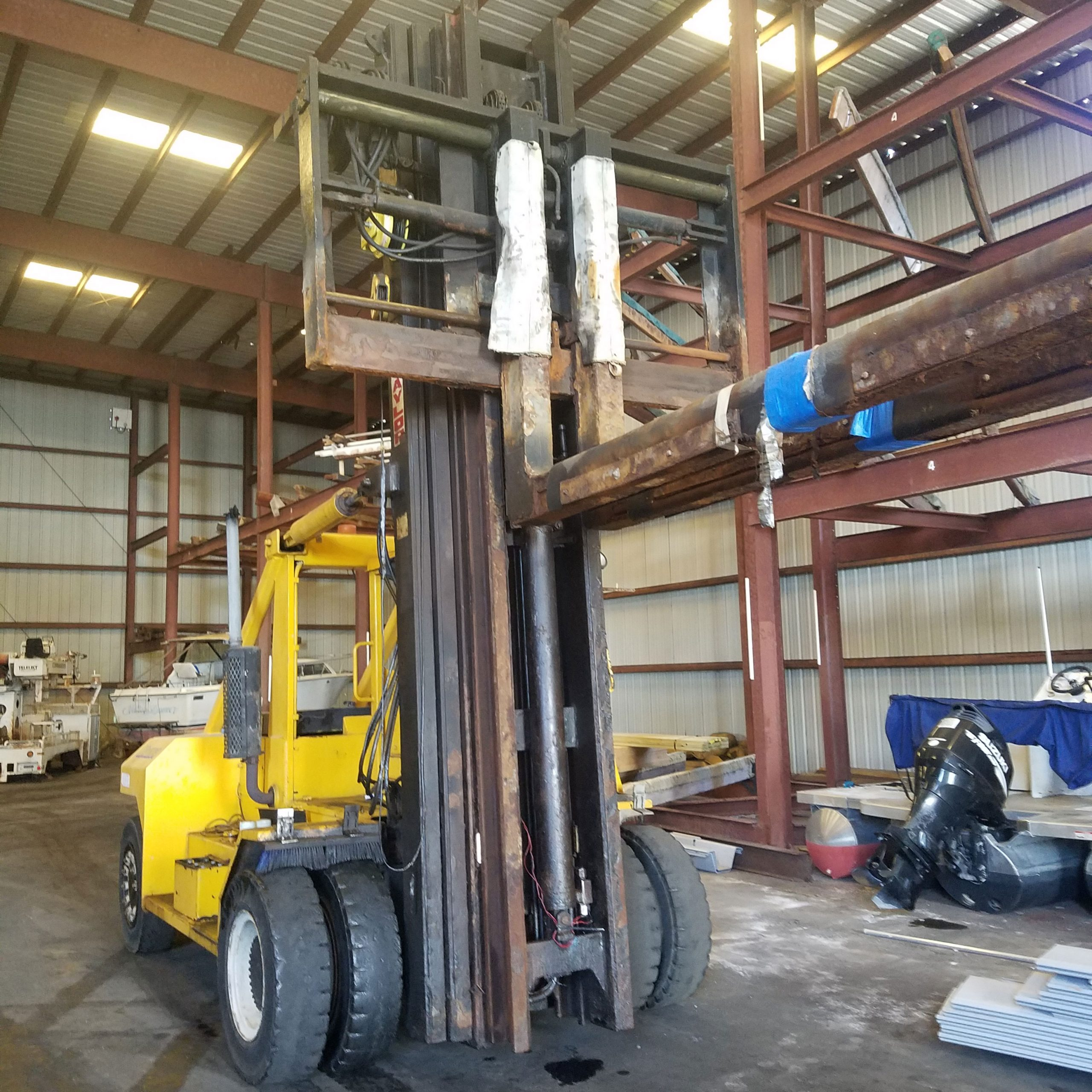 Used 1993 Taylor 4-stage forklift for sale in Florida.
